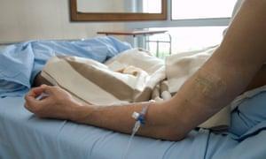Patient having chemotherapy.