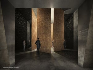 Artist's impression of Contemplation Court at the Holocaust memorial.