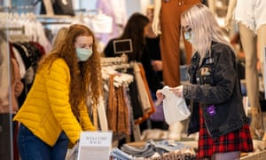 'There is no politics here. There is only the person who has to do their job, who would prefer you to wear a mask' ... shoppers in Belfast last week.