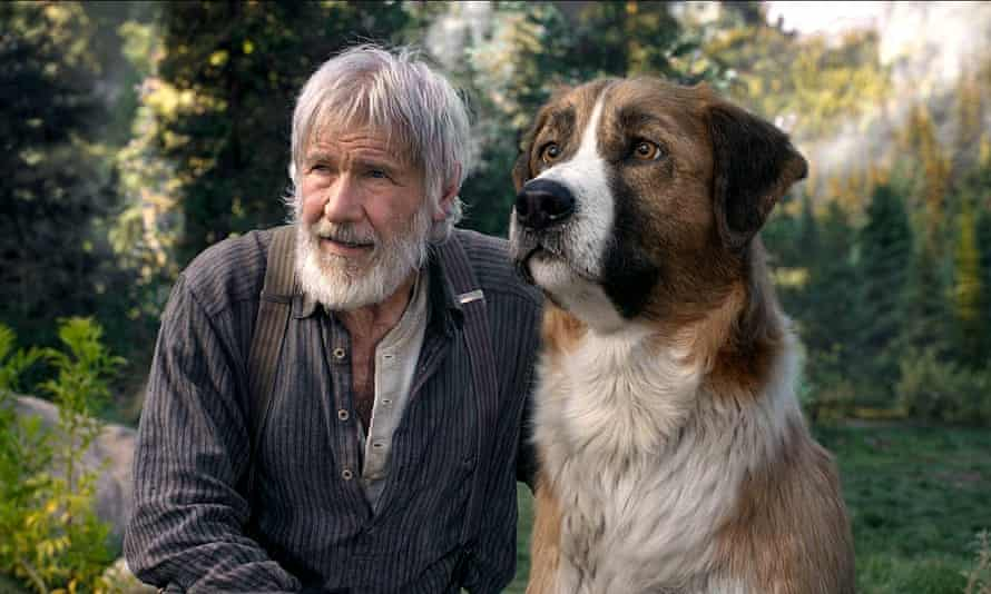Uncanny valley … Harrison Ford and the CGI'd Buck in The Call of the Wild.