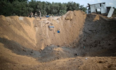 Israel launches up to 50 strikes on Gaza after rocket attack on Sderot