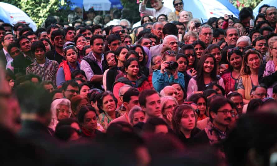 an audience at the Jaipur Literature festival.