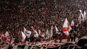 River Plate fans squeeze into El Monumental for the home leg of their semi-final against Grêmio.