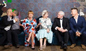 Former Blue Peter presenters (from left) Mark Curry, Peter Duncan, Janet Ellis, Valerie Singleton, Peter Purves and Tim Vincent