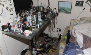 A bedroom in Steven Bracher's home