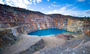 An abandoned mine filled with water