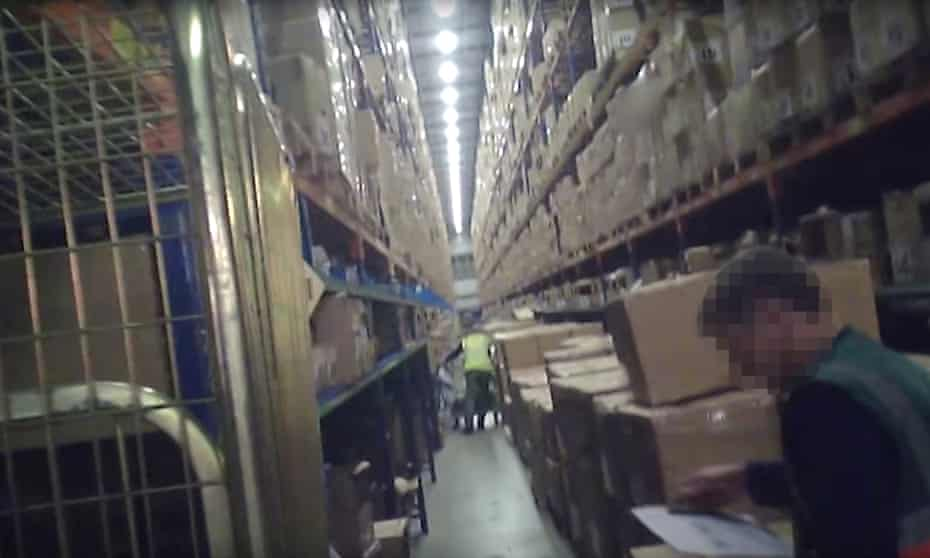 Sports Direct's warehouse in Shirebrook, Derbyshire