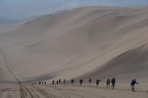 Paracas, Peru Competitors take part in the second stage of the 2nd Half Marathon of Sables Ica Desert