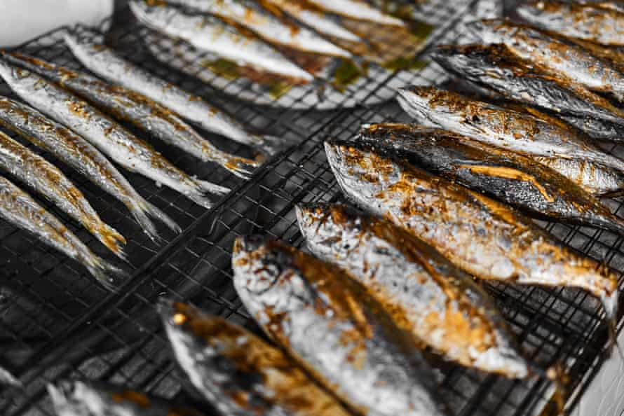 always oil fish before putting on the grill.