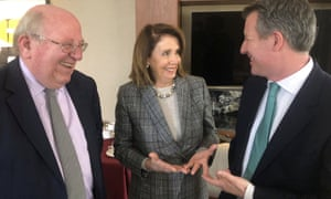 Nancy Pelosi meets Mike Gapes (left) and Chris Leslie of The Independent Group.