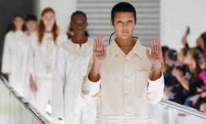 Models walk the runway at the Gucci Spring/Summer 2020 fashion show