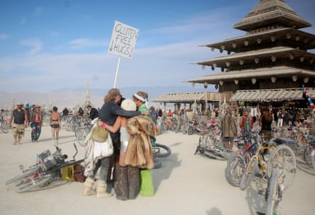 Participants hug at the Temple Project.