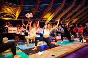 Pre-rave yoga