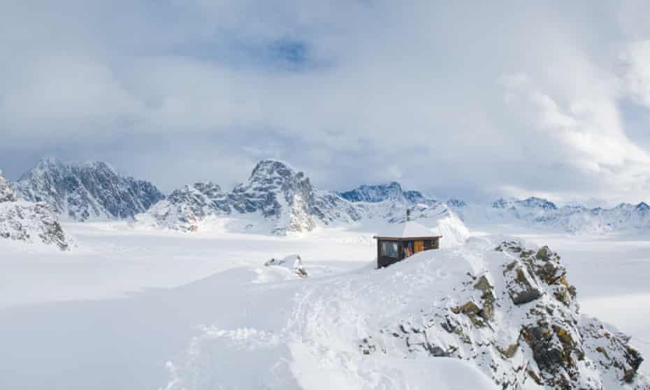 Don Sheldon's mountain cabin in Alaska