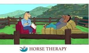 Never a series to simplify things into black and white ... BoJack attends therapy in season six of the show.