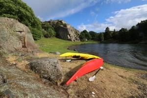 Kayaks Kälkerōn island