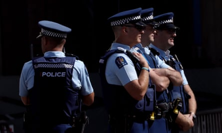 New Zealand police officers