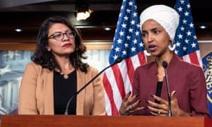 Democratic Representatives Ilhan Omar and Rashida Tlaib.