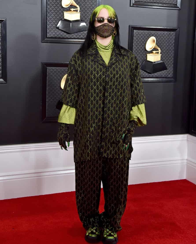 Billie Eilish at the Grammy awards on 26 January.