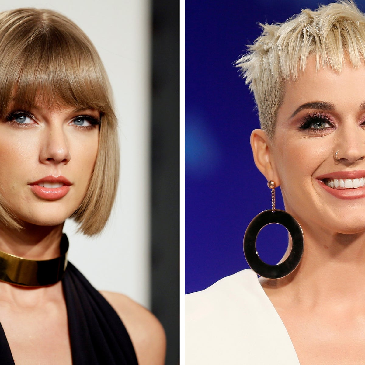 No More Bad Blood Katy Perry Sends Taylor Swift Actual Olive Branch To End Feud Katy Perry The Guardian