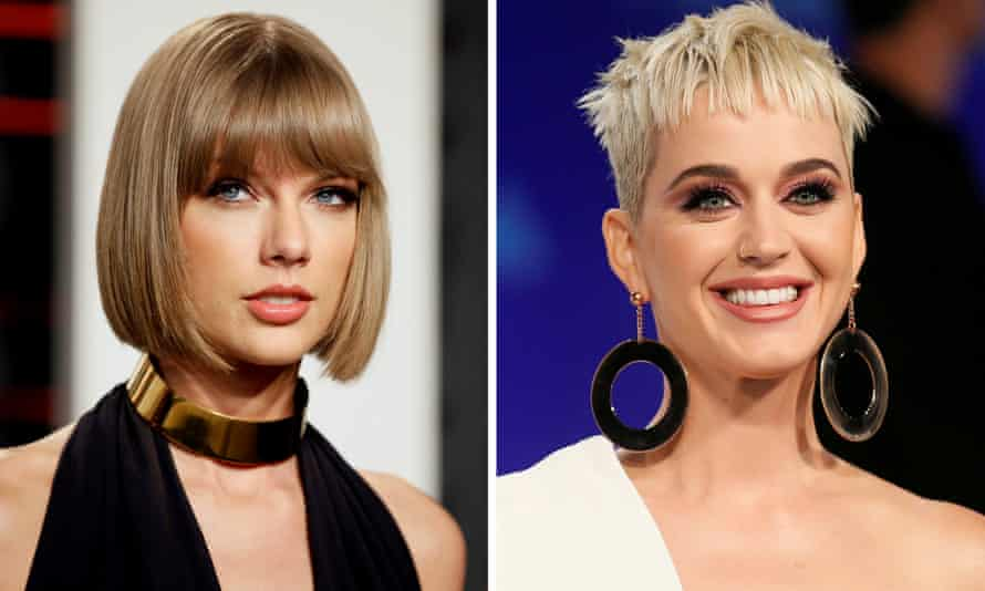 Turning over a new leaf … Taylor Swift and Katy Perry.