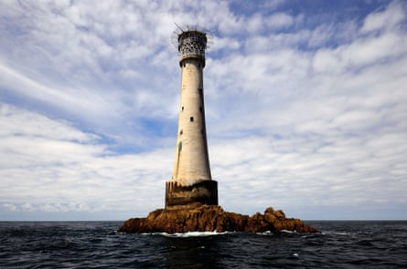 The Bishop Rock lighthouse, The Scilly Isles,