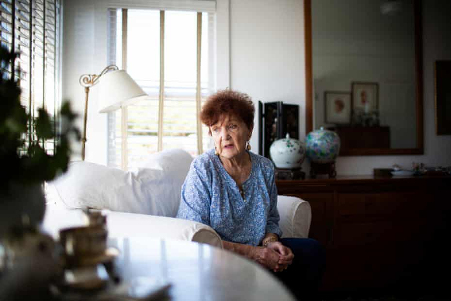 Sue Gibson, at her home in Mendocino. She's been finding ways to conserve water, including shorter showers.