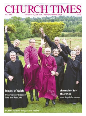 Jollity on the cover of the Church Times