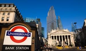 Bank Station, City of London, April 2020.