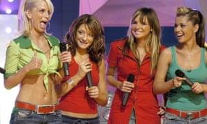 Girls Aloud's Sarah Harding, Nicola Roberts, Nadine Coyle and Cheryl Tweedy in 2004.