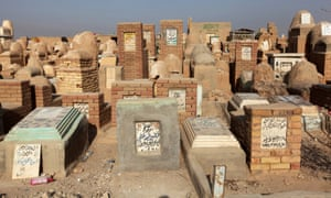 "Tombs are seen at the Wadi al-Salam cemetery, Arabic for ""Peace Valley"", in Najaf, south of Baghdad, Iraq, August 3, 2016."