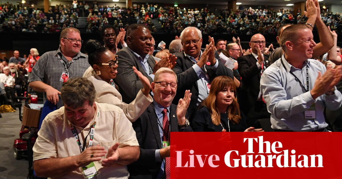 Brexit: Labour delegates back Corbyn and reject plan to campaign for remain – live news