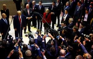 Trump, Klaus and Hilde Schwab