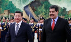 Nicolás Maduro, right, with Xi Jinping