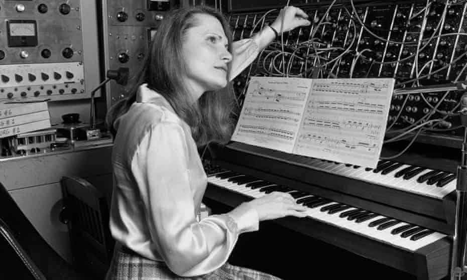 Composer at work … Wendy Carlos in her New York recording studio in 1979.