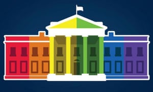 The White House released this image, of the building colored like the rainbow flag, on Facebook following the supreme court's ruling.