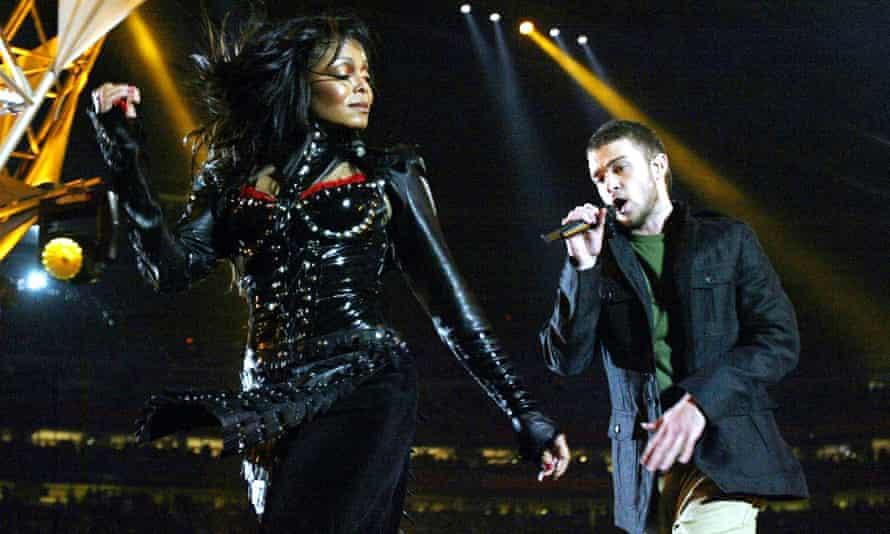 Wardrobe malfunction ... Janet Jackson and Justin Timberlake at Super Bowl XXXVIII.