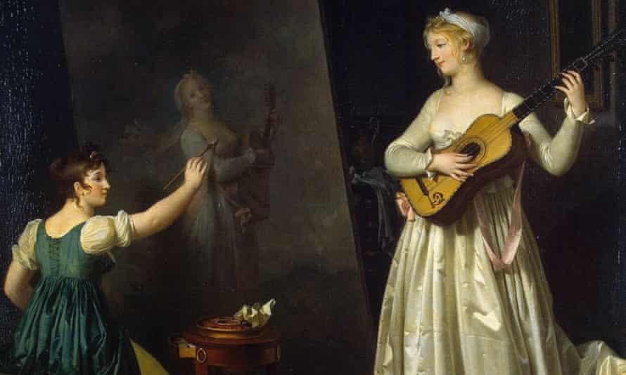Marguerite Gerard: Artist Painting a Portrait of a Musician