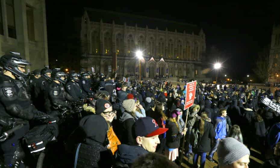 The shooting happened outside a University of Washington auditorium where Milo Yiannopoulos was appearing.