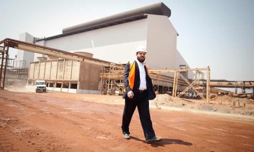 Dan Gertler walks through the Katanga mine complex