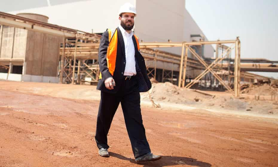 Dan Gertler at the Katanga mine in south-east DRC in 2012.