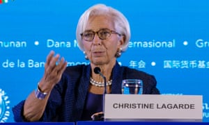 Christine Lagarde at the IMF and World Bank annual meeting in Bali, Indonesia, on Thursday.