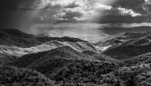 Caney Fork in between storms from the Blue Ridge Parkway, in the black and white category