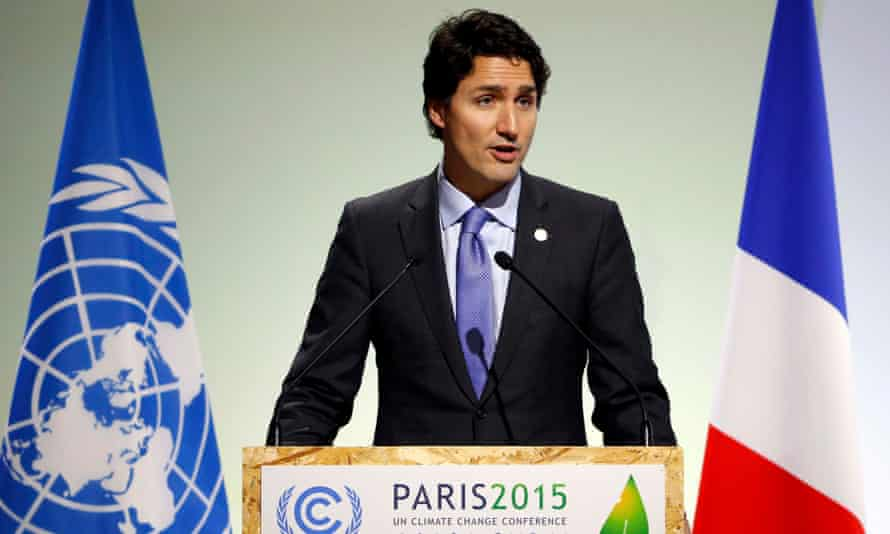 Canada's Prime Minister Trudeau delivers a speech during the opening session of the World Climate Change Conference 2015 (COP21) at Le Bourget, near Paris, France, November 30, 2015. REUTERS/Stephane Mahe