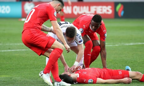 'Dereliction of duty' – Fabian Schär plays on for Swiss after being knocked out