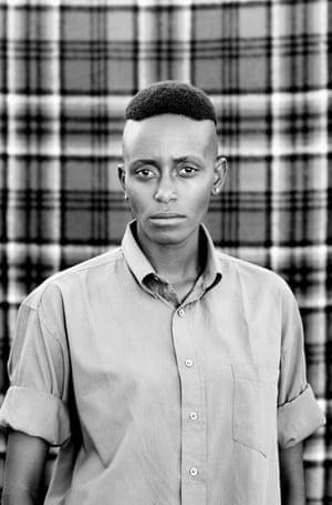 Sinenhlanhla Lunga photographed by Zanele Muholi for her Faces and Phases series.