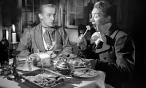 Alec Guinness, left, with John Mills in the 1946 film of Great Expectations.
