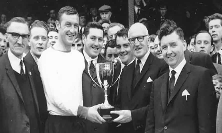 Jimmy Hasty receives Dundalk's footballer of the year award for 1965