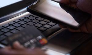 Phone, keypad, credit card
