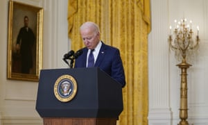 President Joe Biden pauses for a moment of silence for the U.S. service members killed at the Kabul airport.